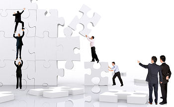 SME Business Help UK header image. People helping build the jigsaw